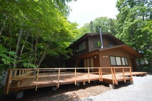 自然と一体化した家